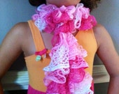 Scarf Ruffle Knit Toddler Girls Pink Children - RaisingGreenKids