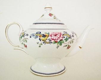 "Vintage 1970's ""Chelsea Manor"" English Crown Staffordshire Bone China Teapot ON SALE"
