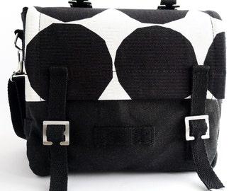 Bike Bag - Marimekko - Small Messenger Bag - Black White