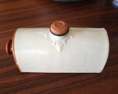 Antique 1880's Scottish Stoneware Hot Water Bottle