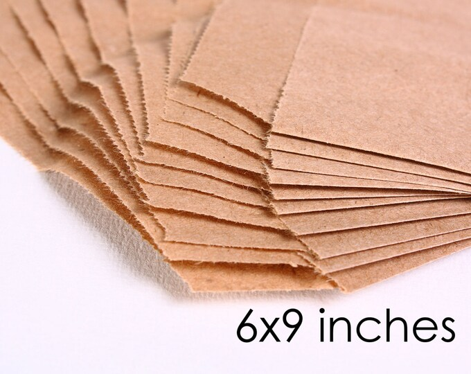 15 kraft paper bags 6 x 9 inches 15pcs (1161) - Flat rate shipping