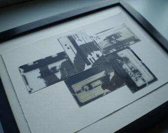 Retro Vintage Cassette Tape Paper Collage