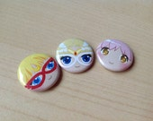 Magical Girl All-Stars bouton 3pcs