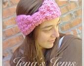 Pink Bow Ear Warmer