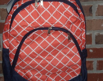 Personalized Embroidered Backpack bookbag