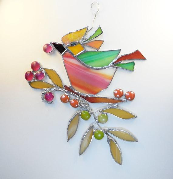 The Happy Bird. Home Decor. Suncatcher.