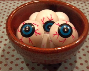 2 Blue Plastic eyeball Halloween Altered Art Supplies Mixed Media supplies Doll Parts body parts