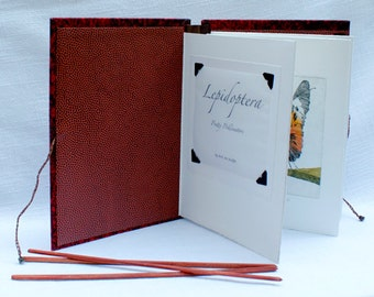 LEPIDOPTERA Pretty Pollinators is a original handmade artist book of my butterfly and peony etchings
