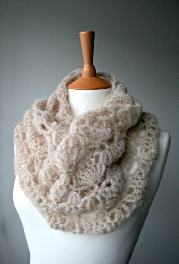 Crochet Pattern Scarf Crochet Pattern Lace Silk Crochet Cowl
