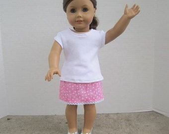 Pink Skirt Outfit for Doll
