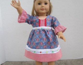Multicolored Dress for Doll