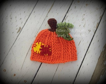 Pumpkin Patch Beanie - Crochet Pattern 67 - US and UK Terms - Newborn to Adult - Instant DOWNLOAD