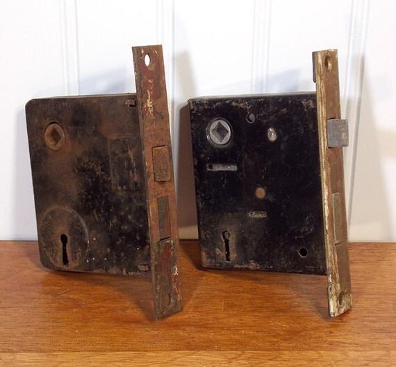 2 Antique Door Lock Mechanisms