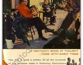 Vintage Early Times Kentucky Bourbon Whiskey Magazine Ad 1956