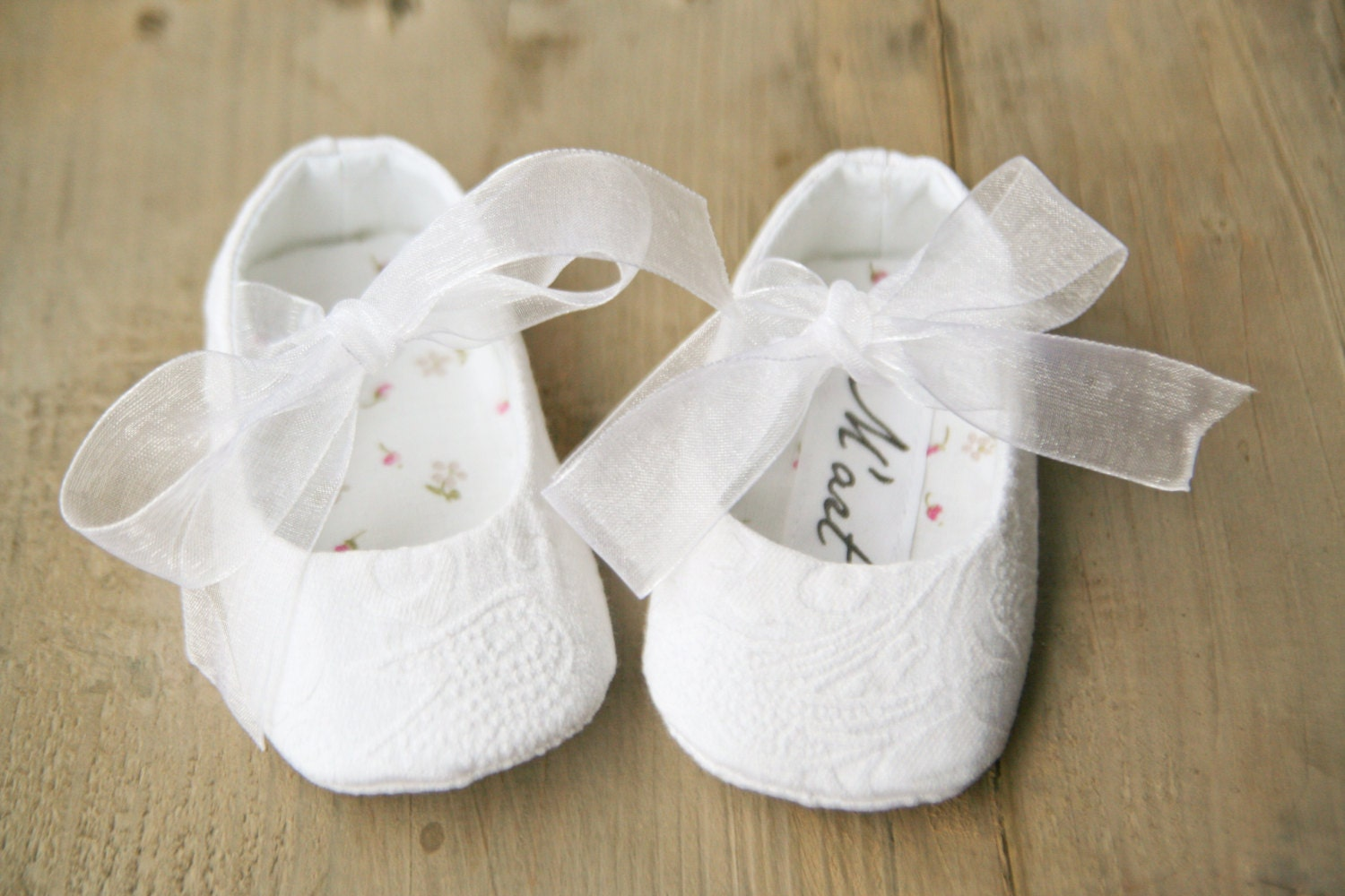 WHITE Baby girl christening shoes sparkly ballerina shoes