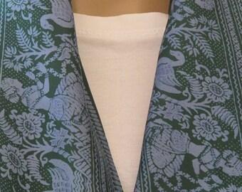 SALE! Ethnic Green Silk Scarf