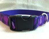 Purple Camoflauge Custom Dog Collar