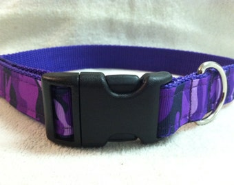 Purple Camoflauge Custom Dog Collar