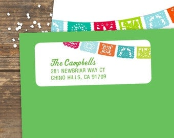 Address Label Printable - Fiesta - Avery Labels