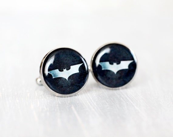 Mens Cufflinks - Batman Cufflinks - Batman Dark Night - Superhero Cufflinks
