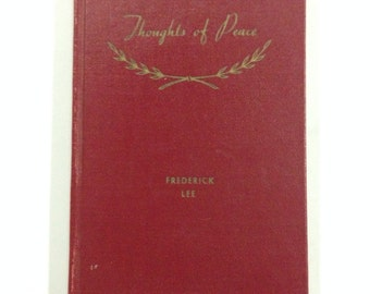 Vintage book, Frederick lee, thoughts of peace book, red book,