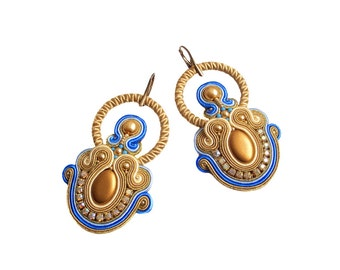 Soutache earrings  - elegant, colorful, classy and unusual - Jewel of the Nile 1