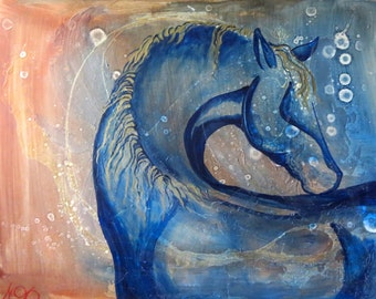 Large Original Acrylic on Panel, Spirit Horse Painting