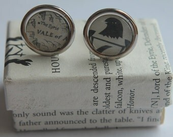 Game of Thrones//House Arryn Sigil and Map//Arryn crest and The Eyrie //Literature Cufflinks/ ASOIAF