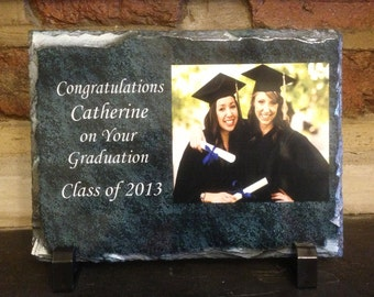 Personalised Graduation Photo Gift Slate