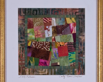 EARLY AUTUMN: A Fine Art Quilt Framed