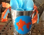 Under the Sea Goldfish Themed Tin for spoons or forks
