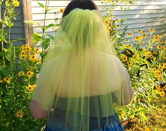 Yellow Veil - Colorful Wedding / Stagette / Bachelorette / Bride