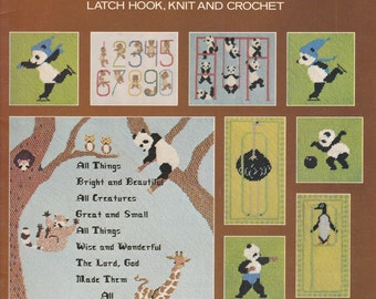 Charted Creatures Needlework Designs Pattern Booklet -  Vintage 1970s