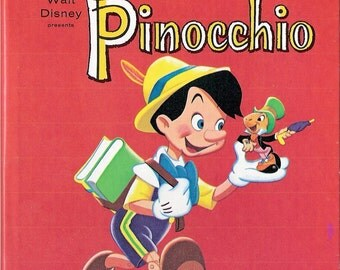 Walt Disney PINOCCHIO Vintage Whitman Tell A Tale Book Illustrated by Frank McSavage & Frank Fisher