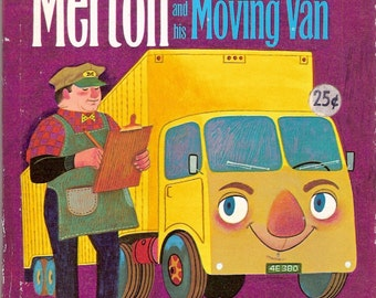 Merton and his Moving Van Vintage Whitman Tell a Tale Book by Mabel Watts Illustrated by Art Seiden