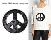 Iron On Peace Patch Applique for DIY Crafts and Home Decor