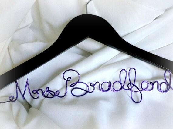 Personalized Bride Hanger, Wedding Coat Hangers
