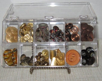 Vintage Button Collection 82 Various Sizes and Styles