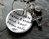 Handstamped Sterling Silver Horse Pendant-Horse Quote Necklace-Horse Lover Jewelry