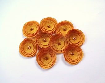 Antique Gold Silk Poppies Embellishment