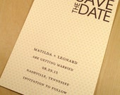 Matilda Patterned Save the Date / Custom Design and Printed by Darby Cards