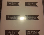 """Stampin Up """"Banner Greetings"""" Clear Mount Set"""