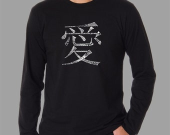 Men's Long Sleeve T-shirt - Created using The Word Love in 44 Languages