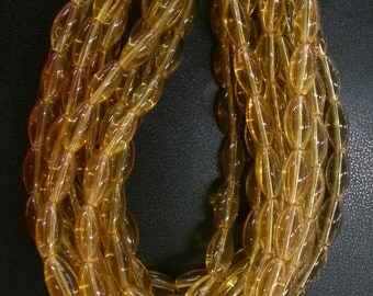 12 x 6 mm Amber Color Glass Beads