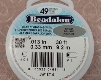 Beadalon Bead Stringing Wire. 49 Strand, .013 Thick