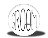 "Wedding Party Title - 1"" Button - Groom"