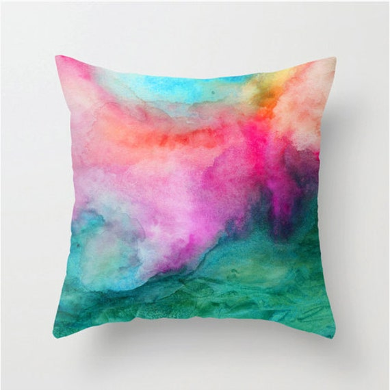 Watercolor pillow home decor watercolor accents watercolor