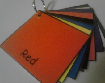 Color Cards, Laminated, Colors Flash Cards, Colors, Toddler, Preschool, Learning, Kids,  Educational, Toys, Flashcards, Kids Toys, Teachers
