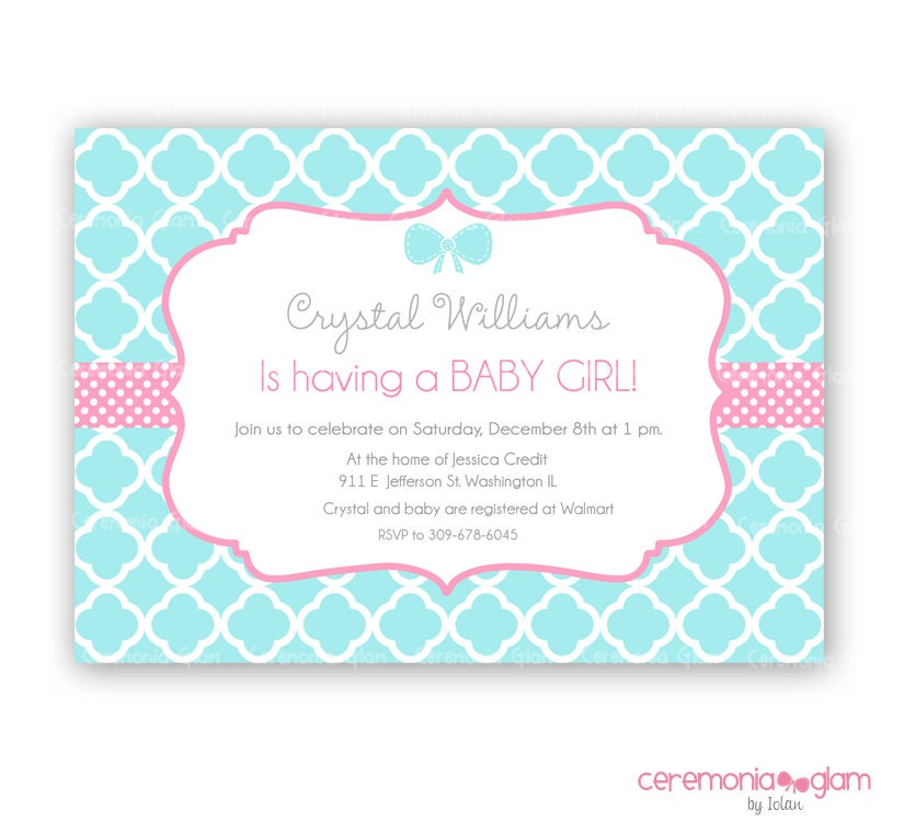 Baby Girl Shower Invitations With Elephants as awesome invitation template