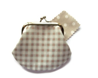 Small Framed Coin Purse - Change Wallet - Small Change Purse - Money Pouch - Coin Purse